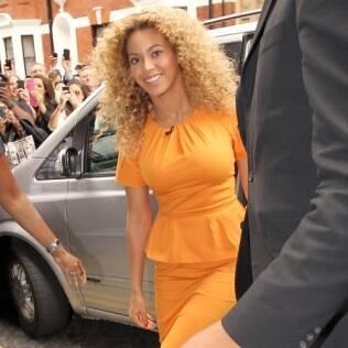 Beyoncé chegando ao programa de Piers Morgan: