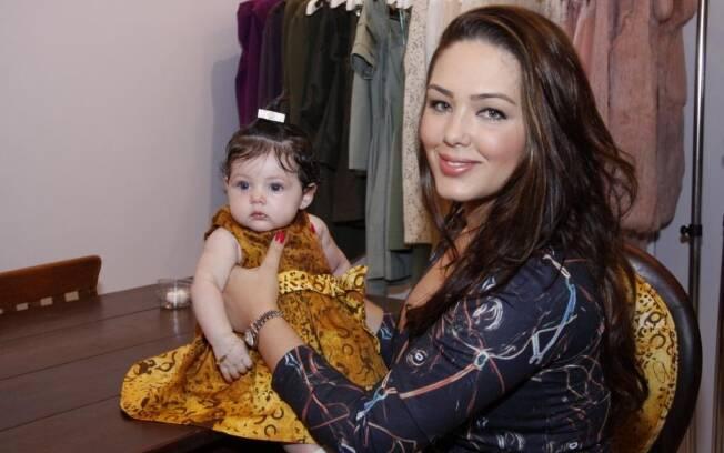 Tânia Mara com a filha, Maysa
