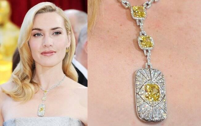 Kate Winslet com jóia de R$ 7 milhões
