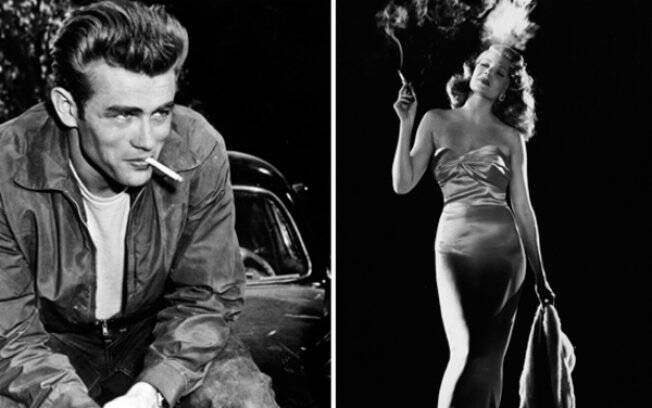James Dean e Rita Hayworth: astros de Hollywood e fumantes, dentro e fora das telas
