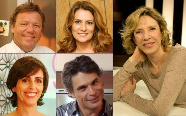 Claude Troigros, Patrycia Travassos, Marília Gabriela, Lilian Pacce e Olivier Anquier