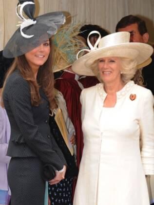Kate Middleton e Camilla Parker Bowles: nova família real