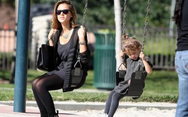 Jessica Alba e a filha Honor
