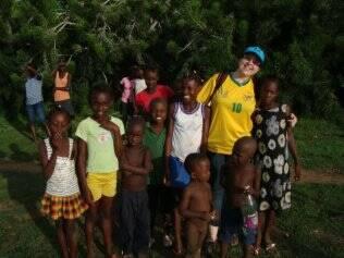 Luciana Coelho em vilarejo no Nordeste do Haiti. Outubro de 2010