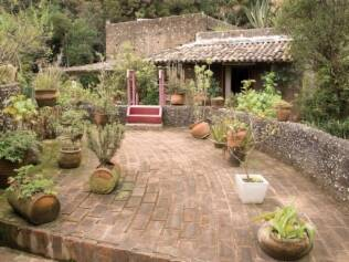 A integração com o jardim é uma das principais características deste projeto