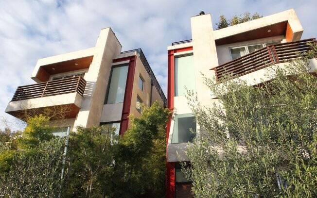 A fachada do apartamento em Venice Beach