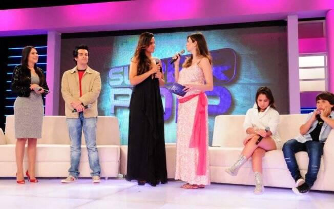 Régis Danese e a dupla Vitor e Vitória participaram do Superpop