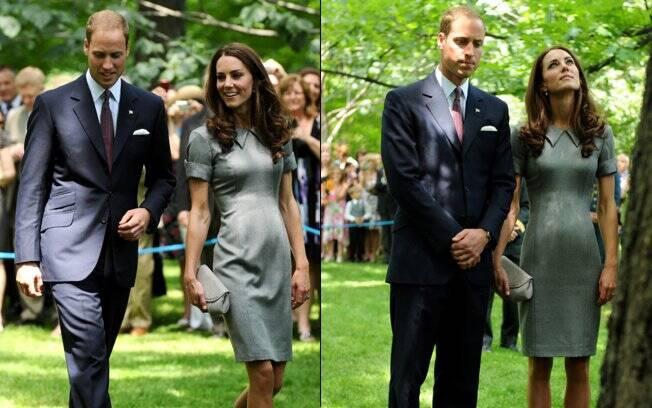 Principe William e Kate Middleton no jardim da Rideau Hall