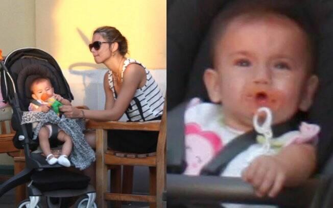 Adriana Lima com a filha Valentina