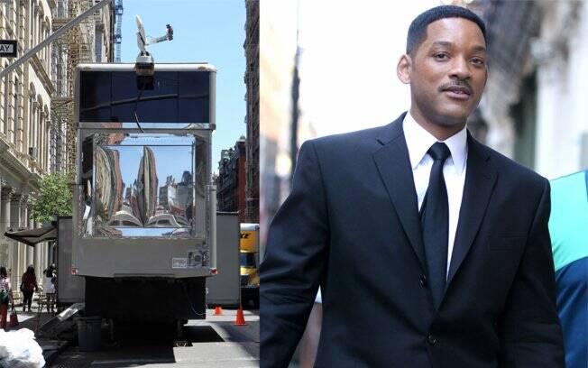 Will Smith e seu trailer para as filmagens de