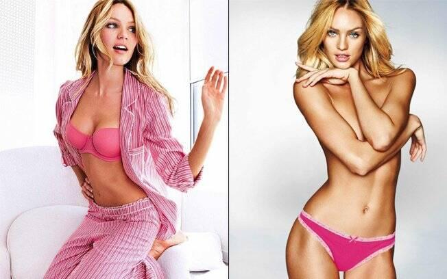 Candice Swanepoel de topless deu o que falar na nova campanha da Victoria