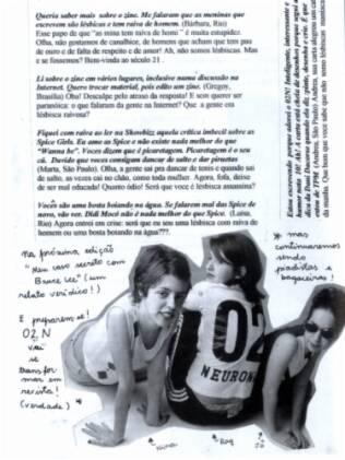 Reprodução de página de um dos fanzines