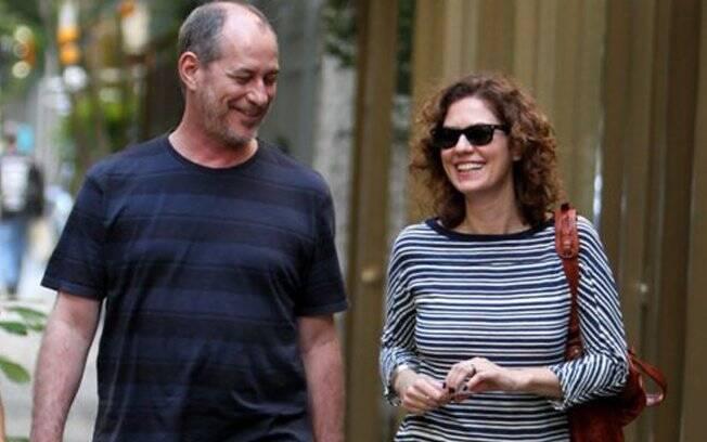 Patrícia Pillar e Ciro Gomes: só alegria