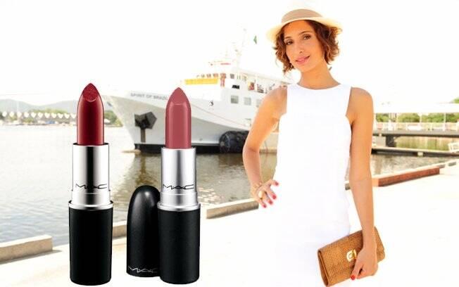Vinho: Hot Thaiti Lipstick   Rosa queimado: Syrup Lipstick