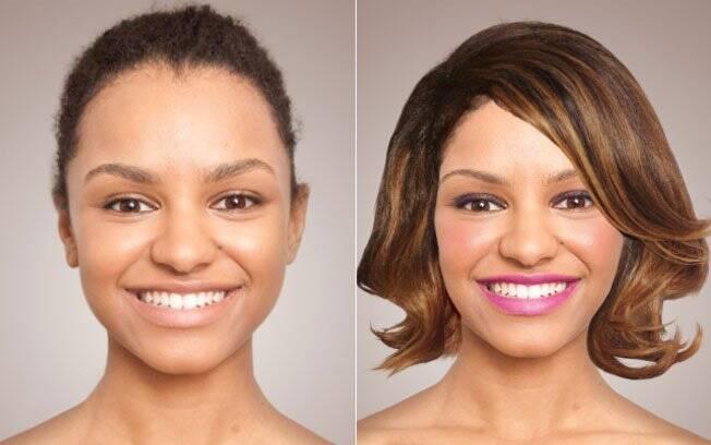 Antes e depois: cabelo de Halle Berry e uma maquiagem bem viva