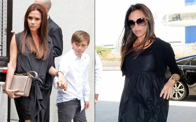Victoria Beckham, que já é mãe de três meninos, está grávida da primeira menina