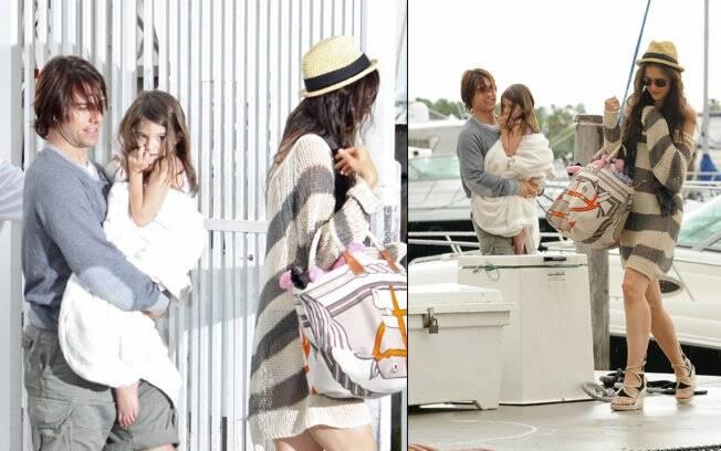 Família Cruise aproveita o feriado de Dia dos Pais em Miami, na Flórida