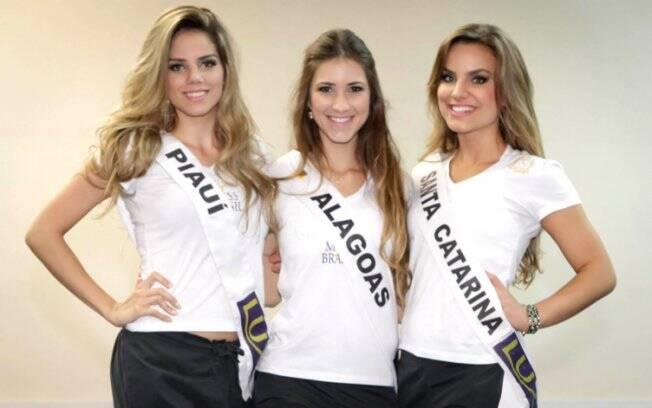 Renata Lustosa (Piauí), Stéfanie Carvalho (Alagoas) e Michelly Bohnen (Santa Catarina)