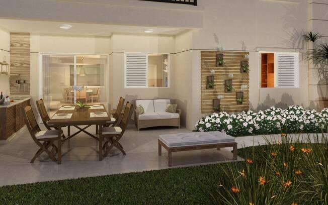 As varandas com maior metragem são o principal diferencial dos apartamentos garden