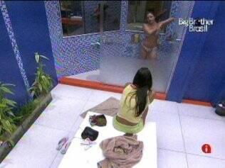 Amigas: Talula assistiu ao banho de Maria