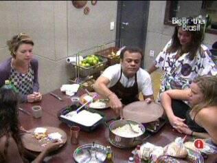 Daniel recebe elogios pelo almoço