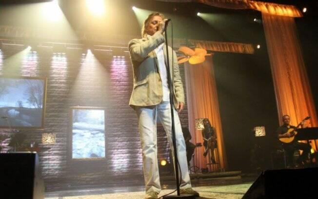 Fábio Jr. cantou sucessos da carreira em quase duas horas de show no Rio