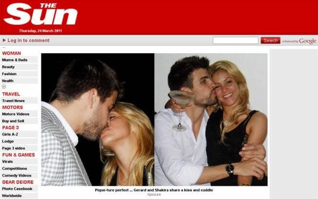 Shakira e Piqué em recente foto divulgada por revista, e na noite dessa quarta-feira (23) em Barcelona