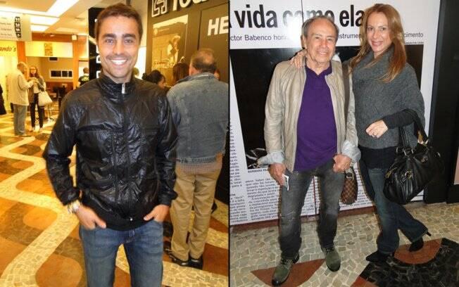 Ricardo Pereira e o casal Stênio Garcia e Marilene Saade