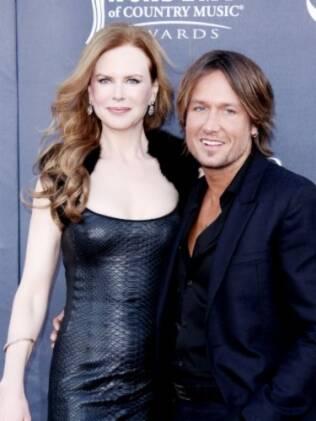Nicole Kidman com o marido, Keith Urban