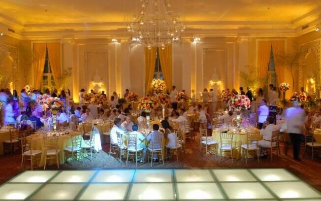 Vista para o Golden Room, um dos salões mais requisitados do CopacabanaPalace
