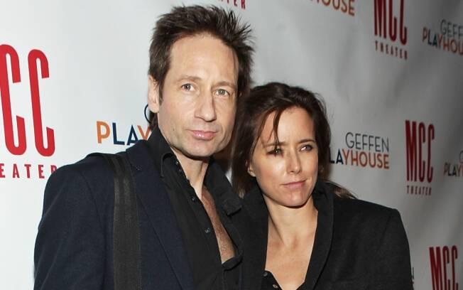 David Duchovny e Tea Leoni na última aparição em um evento do casal, em novembro de 2010
