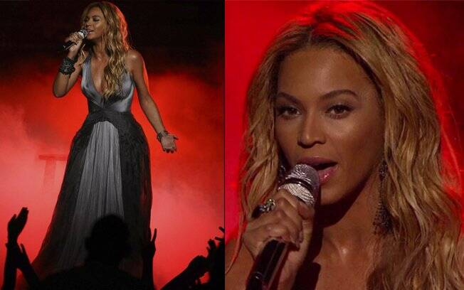 Beyoncé no palco do Amerian Idol