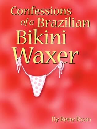 """Capa do livro """"Confessions of a Brazilian Bikini Waxer"""": histórias divertidas e ilustrações"""