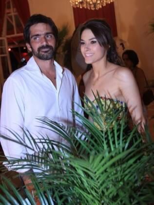 O casal Fernanda Machado e Vinicius Coimbra