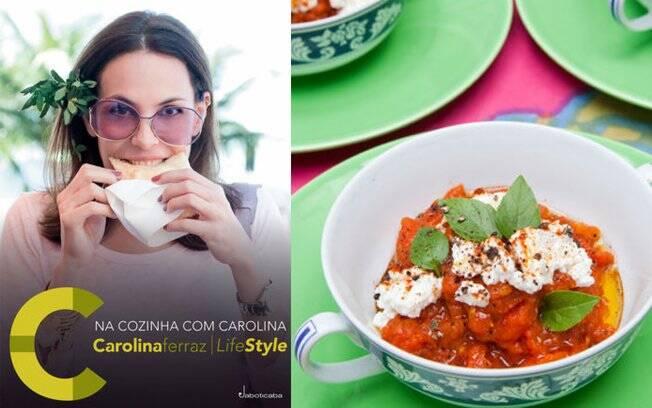 Carolina Ferraz também lançou um livro de receitas