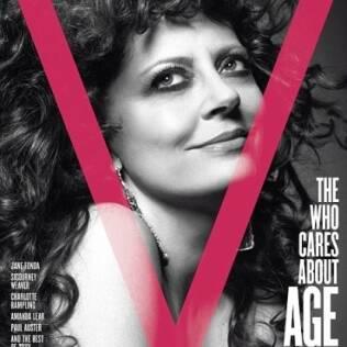 A atriz Susan Sarandon, 63, na capa da revista V, em edição chamada