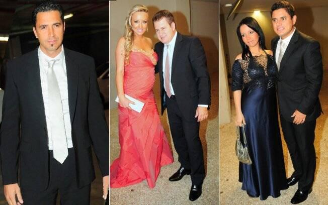 Os padrinhos Latino, Marrone e Natália Portes, Hugo Pena e Manuela Diniz