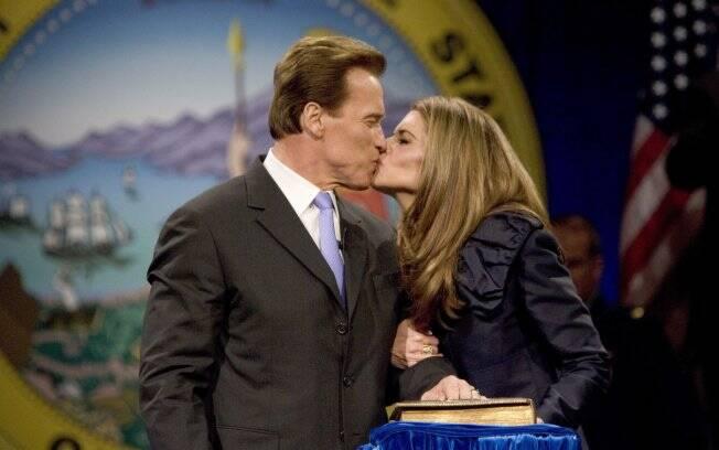 O ex-governardor da Califórnia, Arnold Schwarzenegger, e Maria Shriver