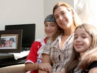 Alexandre, Flávia e Ana Júlia: