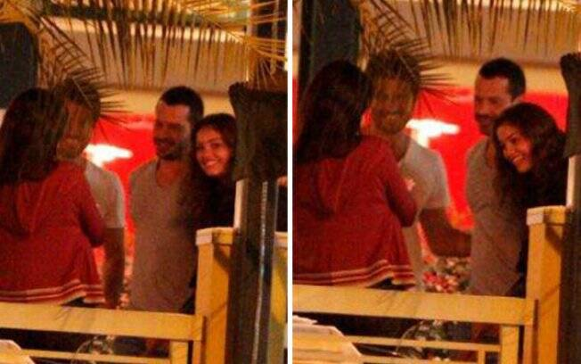 Malvino e Sophie com Eriberto e Andréa, na saída do restaurante Borsalino, na Barra da Tijuca, Rio