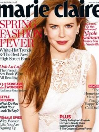 Nicole Kidman na capa da edição de março da