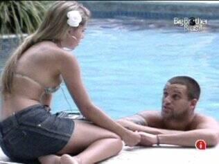 Diogo e Adriana discutiram a relação