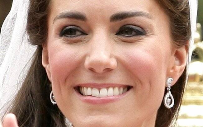No dia do casamento, Kate seguiu o estilo básico de sempre