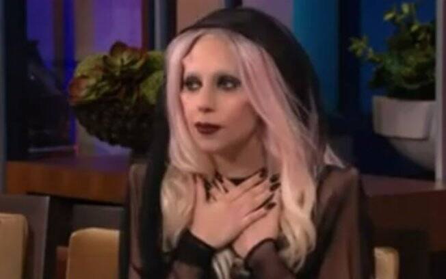 Lady Gaga no programa de Jay Leno: apoio recebido de Madonna