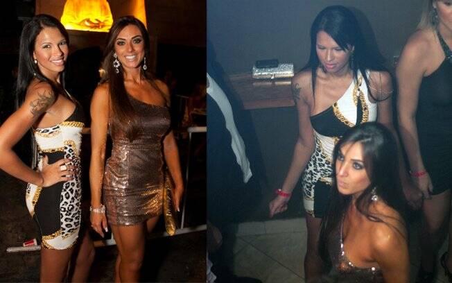 Ariadna e Nicole Balhs curtiram a noite desta sexta (22) juntas