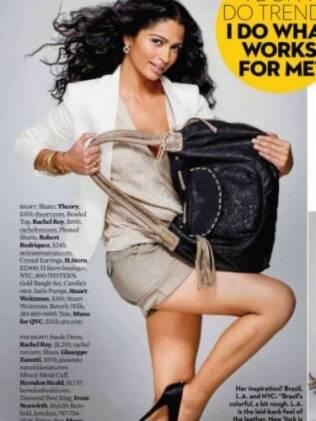 Camila Alves mostra uma de suas criações em editorial da revista Ok!