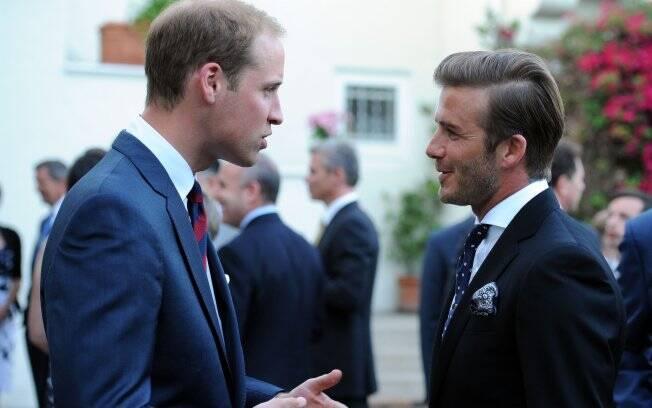 David Beckham e William são amigos há quase dez anos