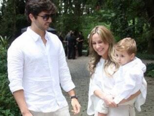 Claudia Leitte com o marido Márcio Pedreira e o filho Davi