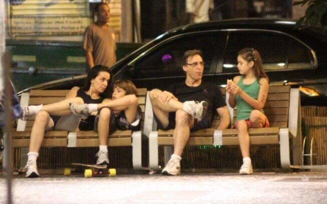 Herson Capri com a mulher Susana e os filhos Luiza e Lucas