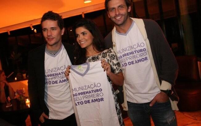 Daniel de Oliveira, Vanessa Giácomo e Henri Castelli